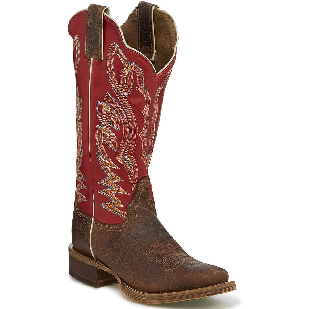 Image for Justin Women's Katia Western Boots - Red Pampero/Maple from elliottsboots