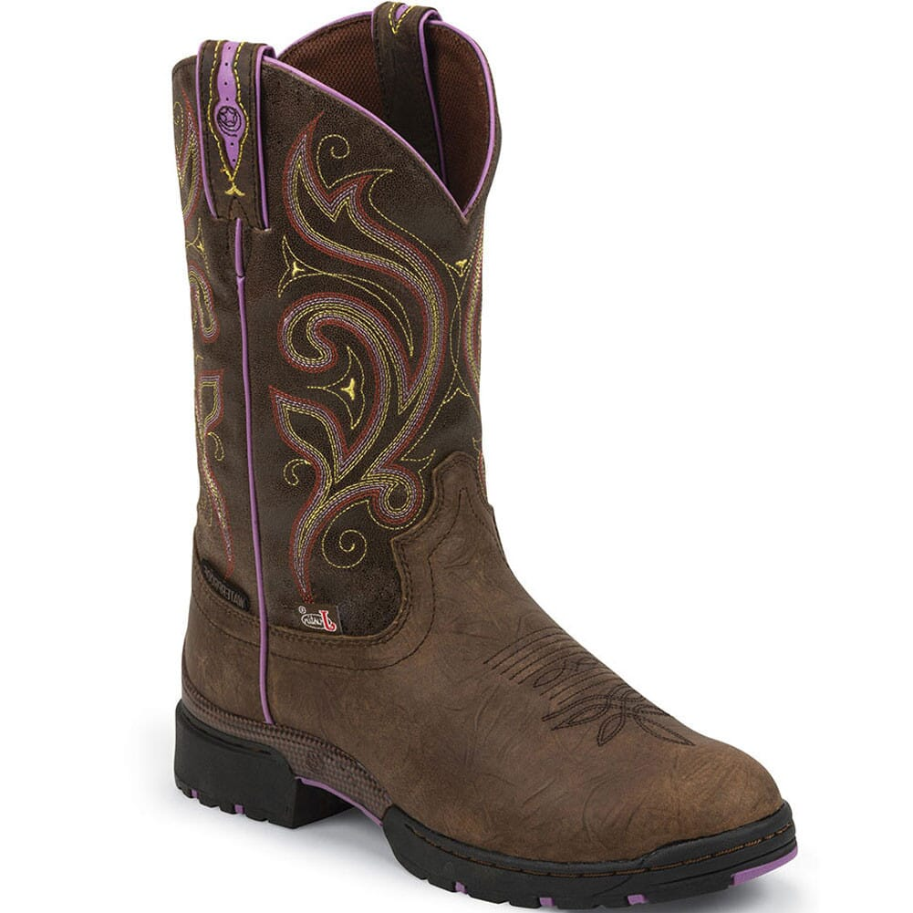 Image for Justin Women's George Strait Western Boots - Barnwood Brown from bootbay