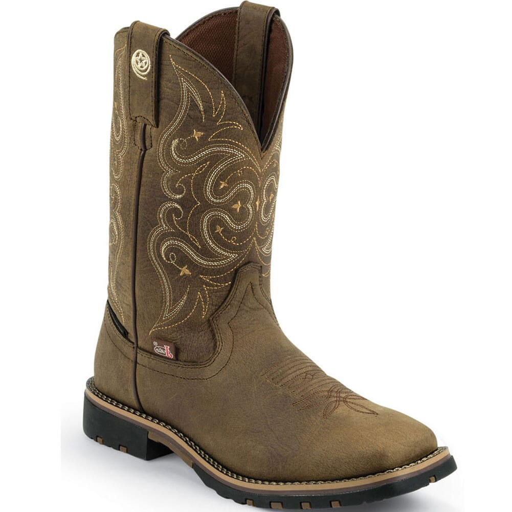 Image for Justin Women's George Strait Western Boots - Golden Crazy Horse from elliottsboots