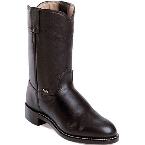 Image for Justin Men's Temple Western Ropers - Black from bootbay