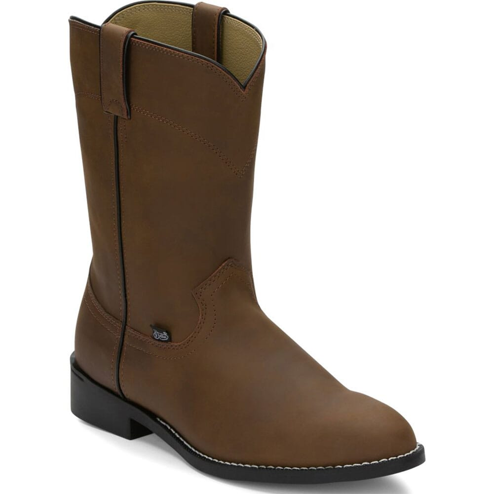 Image for Justin Men's Temple Western Ropers - Brown from bootbay