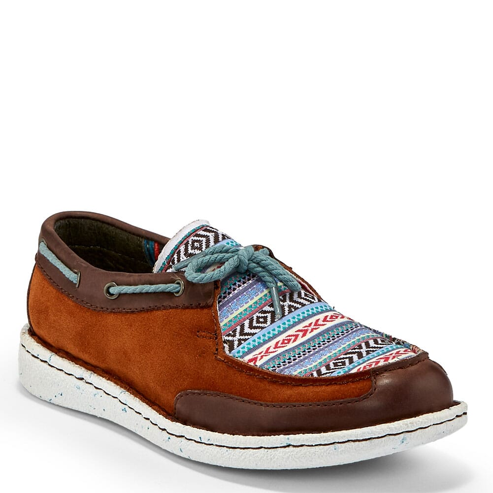 Image for Justin Women's Boatie Casual Shoes - Chocolate from bootbay