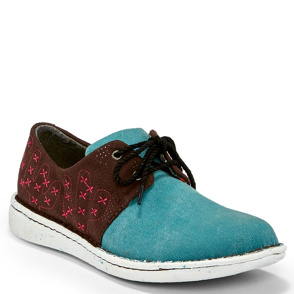 Image for Justin Women's Cac-Tie Lace-Up in Casual Shoes - Turquoise from bootbay
