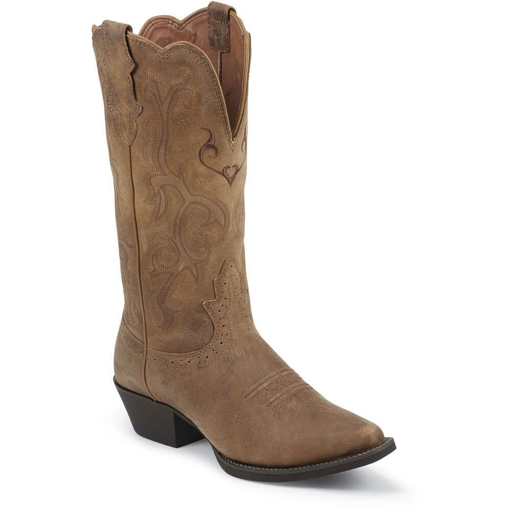 Image for Women's Fashion Western Justin Boots - Tan Puma from bootbay