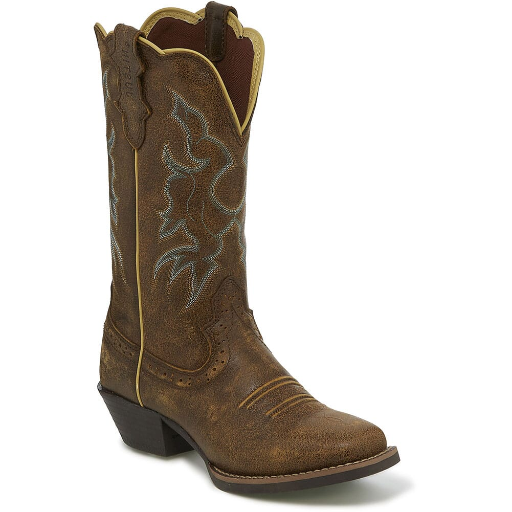Image for Justin Women's Durant Western Boots - Brown Bomber from bootbay