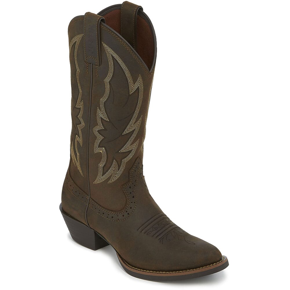Image for Justin Women's Rosella Western Boots - Chocolate from elliottsboots