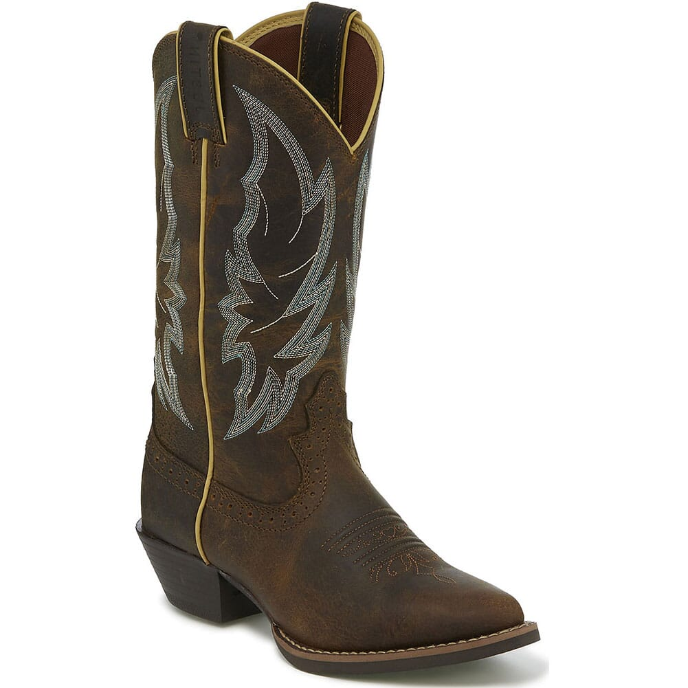 Image for Justin Women's Calimero Western Boots - Distressed Chocolate from bootbay