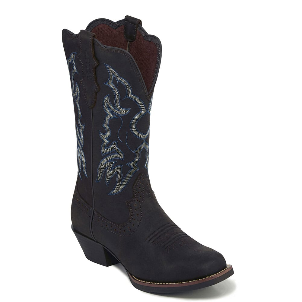 Image for Justin Women's Brandy Western Boots - Dark Brown from bootbay