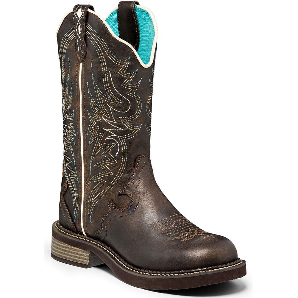 Image for Justin Women's Gypsy Lily Western Boots - Chocolate from bootbay