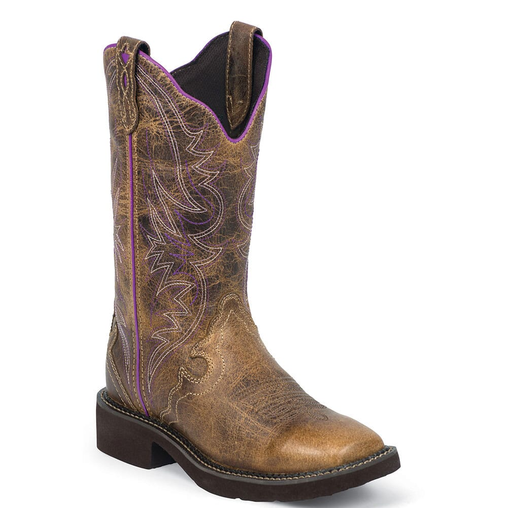 Image for Justin Women's Raya Western Boots - Distressed Tan from elliottsboots
