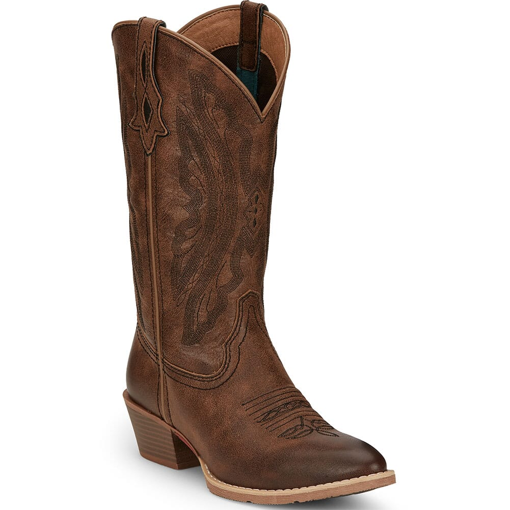 Image for Justin Women's Roanie Western Boots - Sand Brown from bootbay