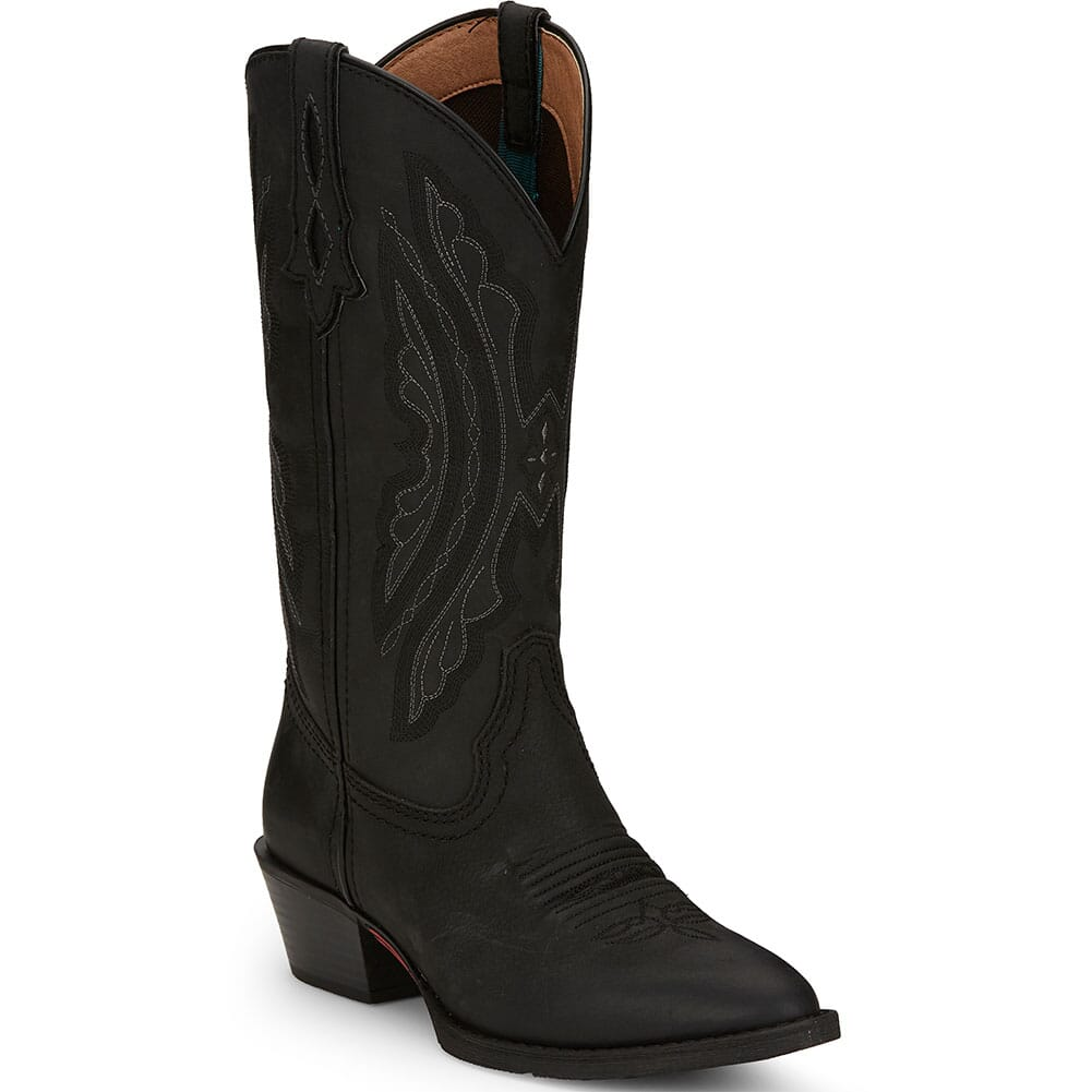 Image for Justin Women's Roanie Western Boots - Midnight Black from elliottsboots
