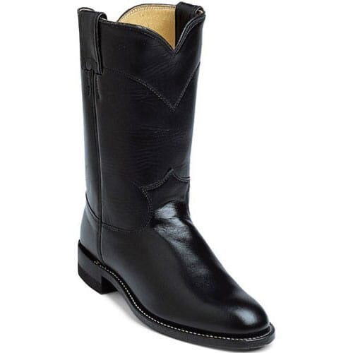 Image for Justin Women's Cora Western Ropers - Black from elliottsboots