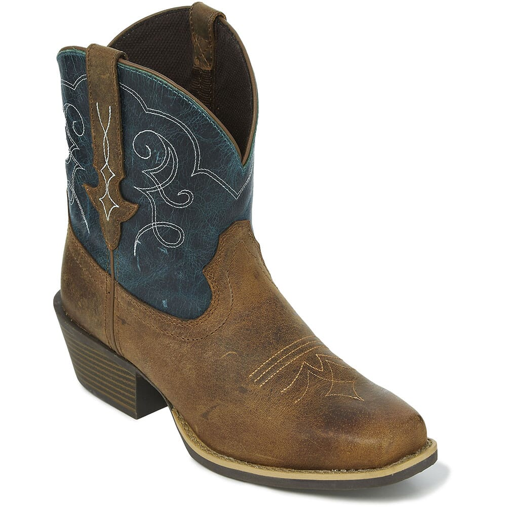 Image for Justin Women's Chellie Western Boots - Teal from elliottsboots