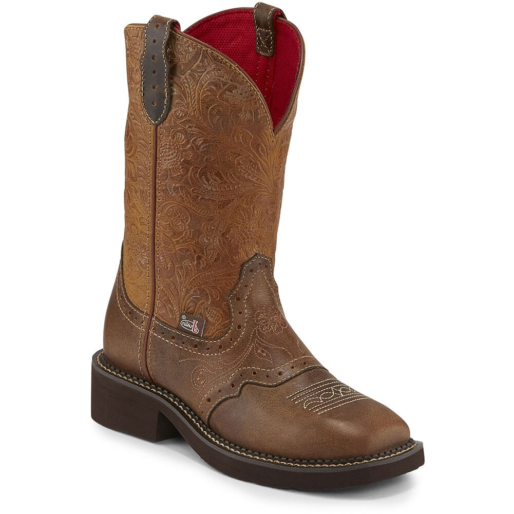 Image for Justin Women's Starlina Western Boots - Tan from elliottsboots