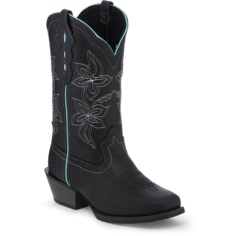 Image for Justin Women's Jessa Western Boots - Black Buffalo from bootbay