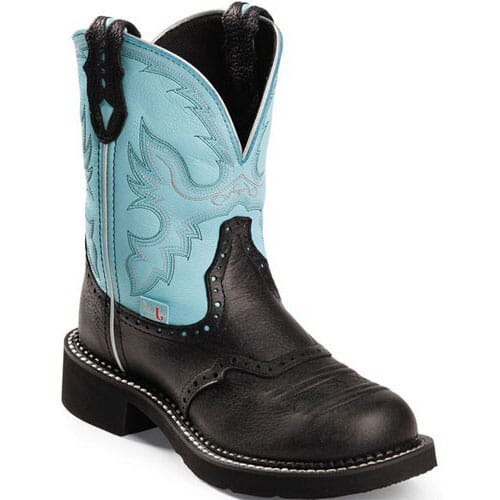 Image for Women's Gypsy Western Justin Boots - Black from elliottsboots