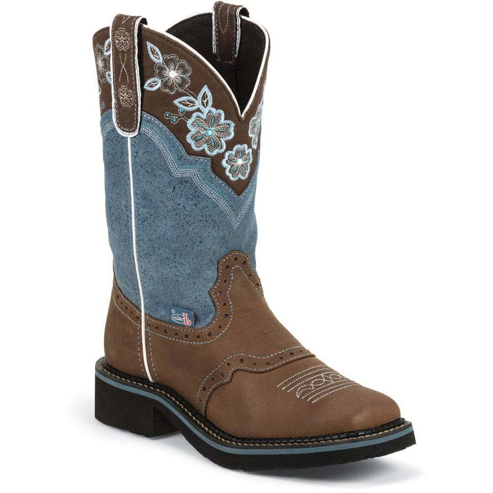 Image for Justin Women's Gypsy Western Boots - Tiara Blue from elliottsboots
