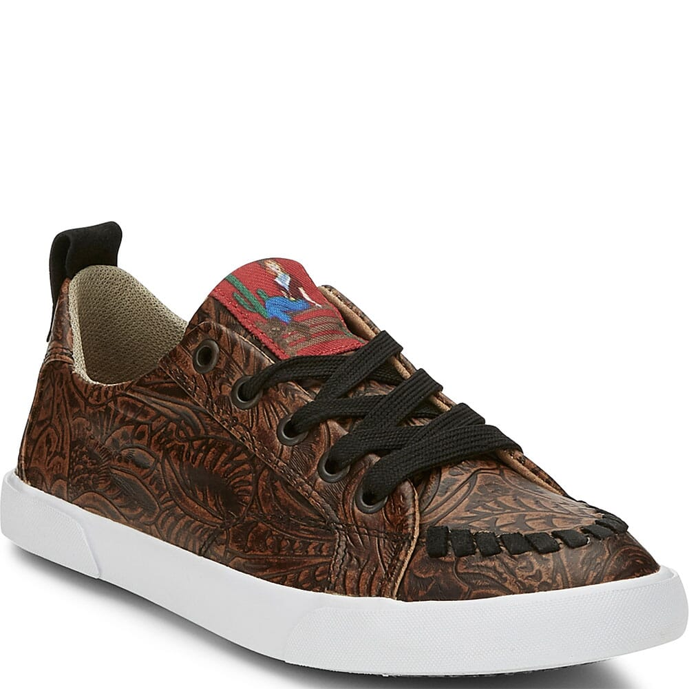 Image for Justin Women's Susie Floral Casual Sneakers - Brown from bootbay