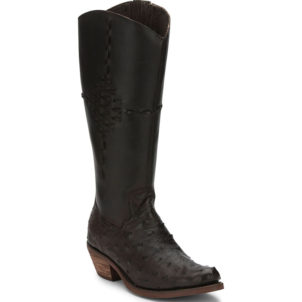 Image for Justin Women's Mcalester Ostrich Casual Boots - Nicotine from bootbay
