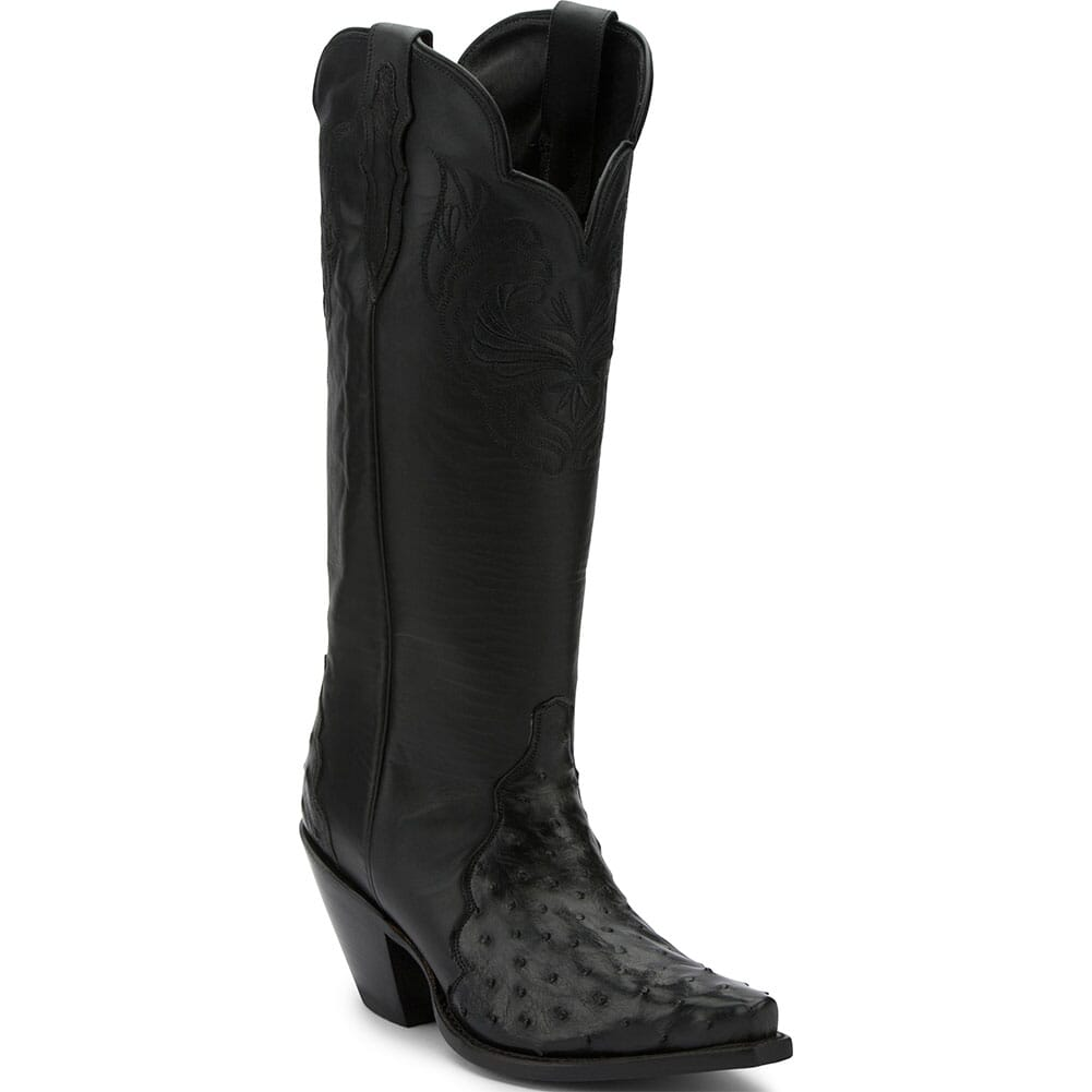 Image for Justin Women's Chelsea Full Quill Casual Boots - Black from bootbay