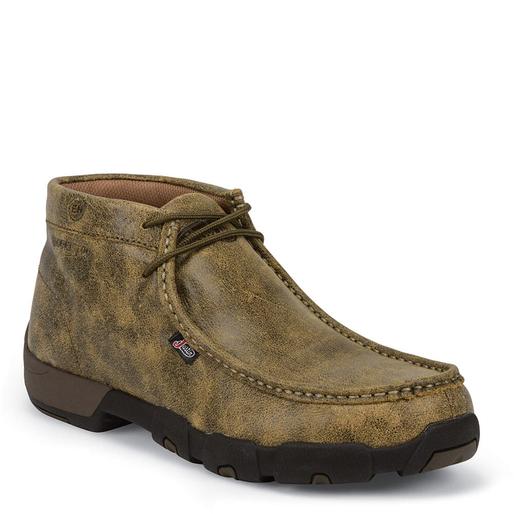 Image for Justin Original Men's Cappie Safety Boots - Tan Bomber from bootbay