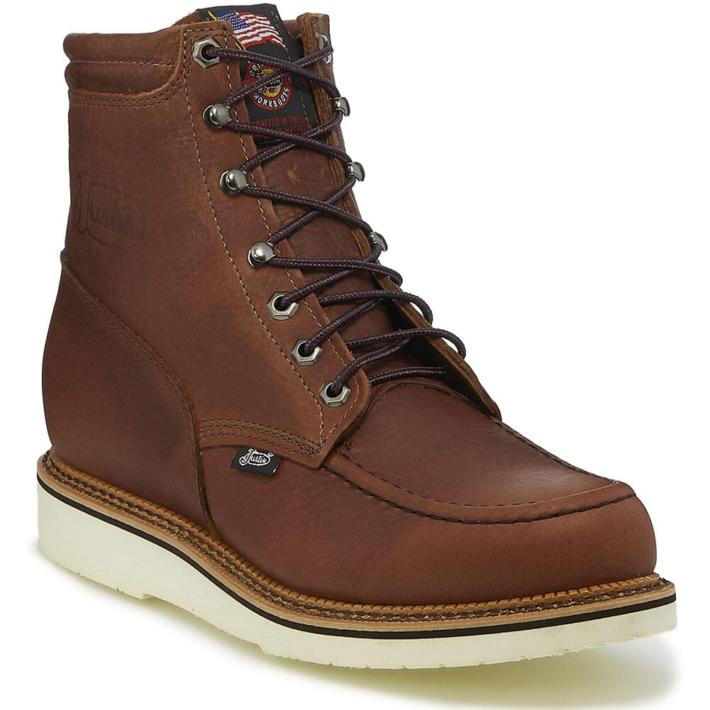 Image for Justin Original Men's Carpenter Work Boots - Brown from bootbay