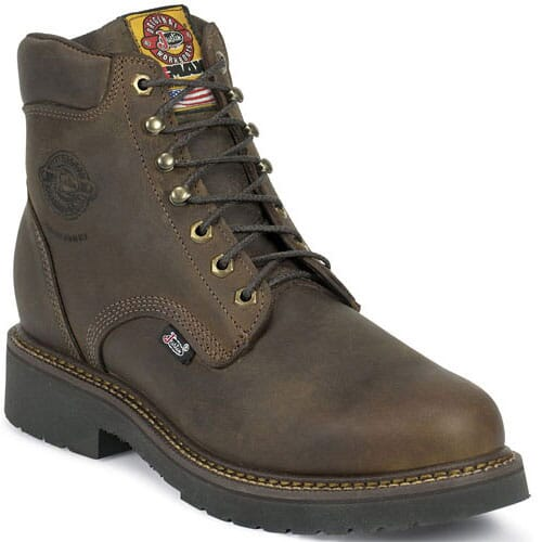 Image for Justin Original Men's Balusters Work Boots - Bay Gaucho from bootbay
