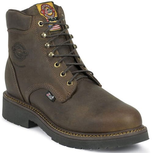 Image for Justin Original Men's Balusters Safety Boots - Bay Gaucho from bootbay