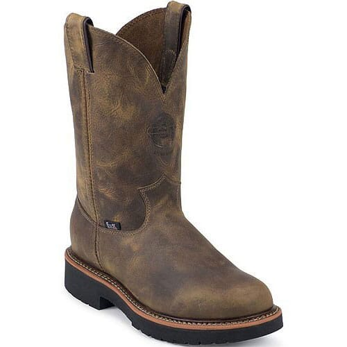 Image for Justin Original Men's Blueprint Wellington Safety Boots - Tan Gaucho from bootbay