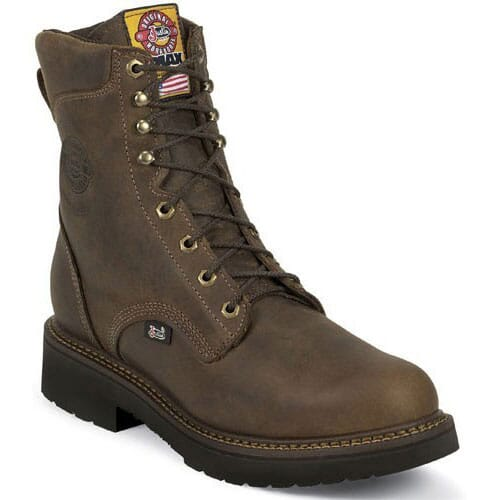 Image for Justin Original Men's Lace-up Safety Boots - Bay Gaucho from bootbay