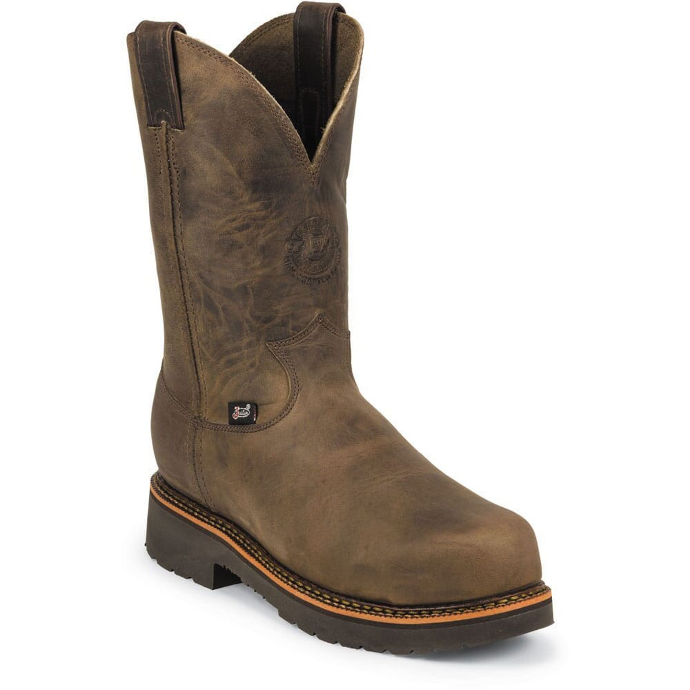 Image for Justin Original Men's Blueprint Wellington Safety Boots - Bay Apache from bootbay