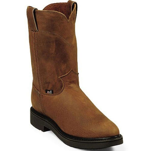 Image for Justin Original Men's Conductor Wellington Work Boots - Aged Bark from bootbay