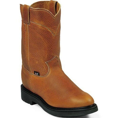 Image for Justin Original Men's Conductor Wellington Work Boots - Copper from bootbay