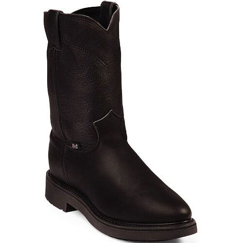 Image for Justin Original Men's 10'' RT Work Boots - Black from bootbay