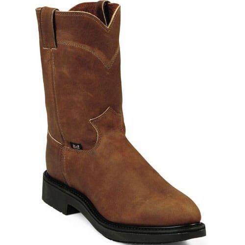 Image for Justin Original Men's Conductor Wellington Safety Boots - Aged Bark from bootbay