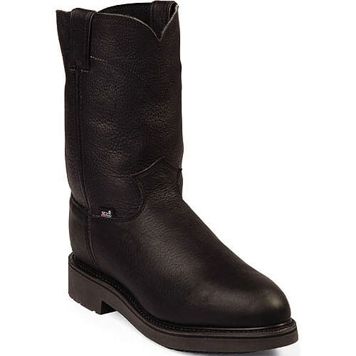 Image for Justin Original Men's Pitstop USA Safety Boots - Black from bootbay