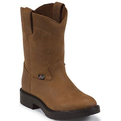 Image for Justin Original Youth Work Boots - Aged Bark from bootbay