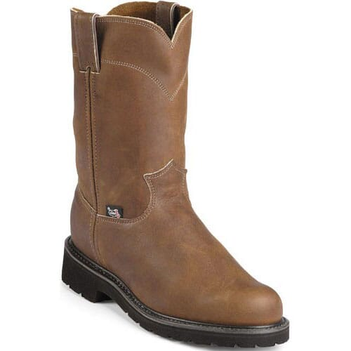 Image for Justin Original Men's Cargo Wellington Safety Boots - Aged Bark from bootbay