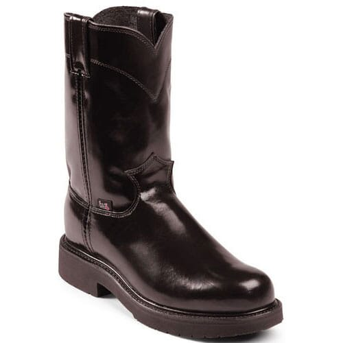 Image for Justin Original Men's Cargo Work Boots - Black from bootbay