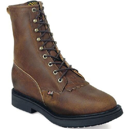 Image for Justin Original Men's Conductor Work Boots - Aged Bark from bootbay