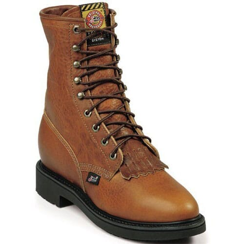 Image for Justin Original Men's Conductor Work Boots - Copper from bootbay