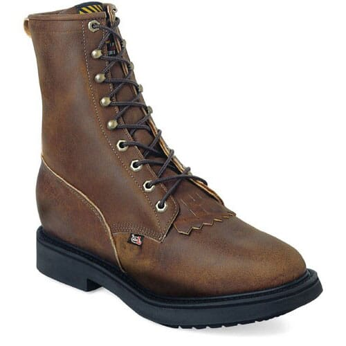 Image for Justin Original Men's Conductor Safety Boots - Aged Bark from bootbay