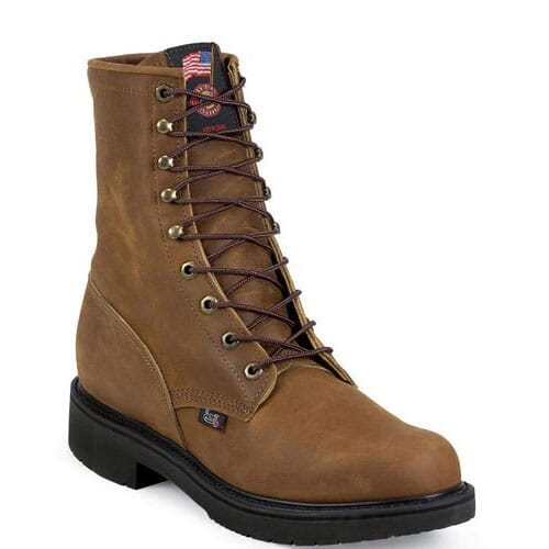 Image for Justin Original Men's Cargo Safety Boots - Aged Bark from bootbay