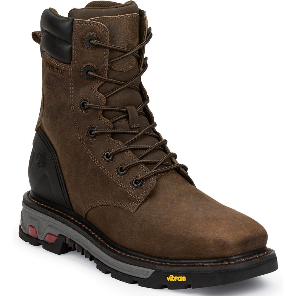 Image for Justin Original Men's Pipefitter Safety Boots - Tobacco from bootbay