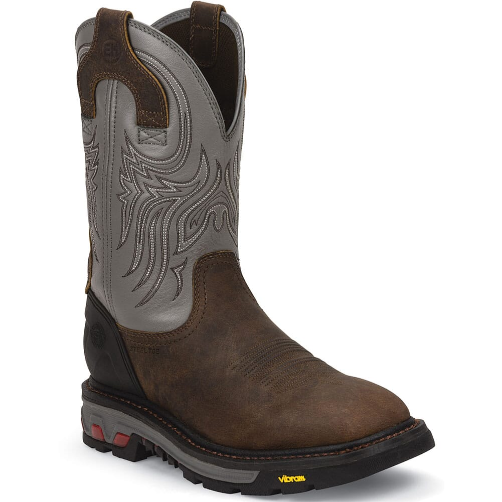 Image for Justin Men's Commander-X5 Safety Boots - Timber from bootbay
