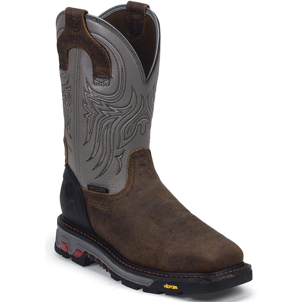 Image for Justin Men's Commander-X5 Met Safety Boots - Timber from bootbay