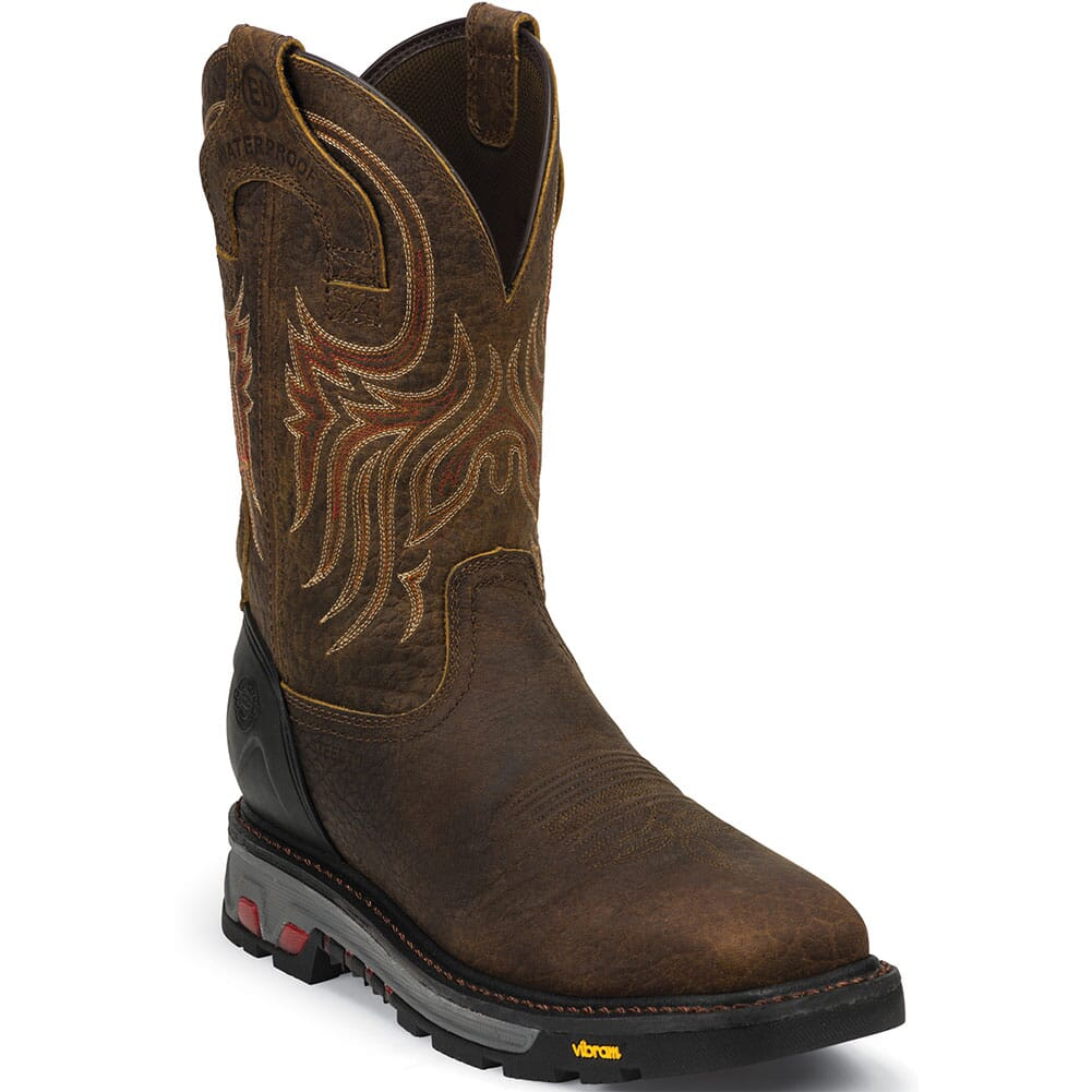 Image for Justin Original Men's Driscoll WP Safety Boots - Mahogany from bootbay