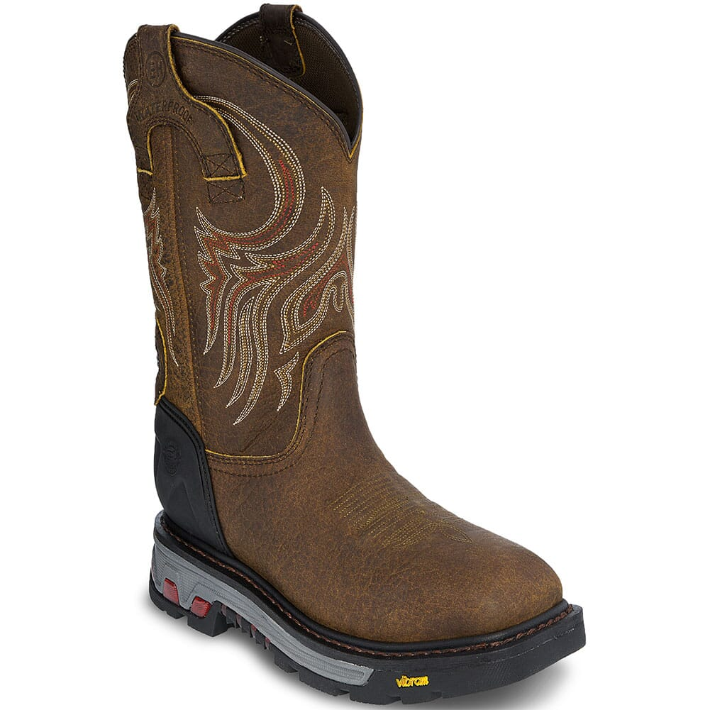 Image for Justin Men's Commander-X5 Work Boots - Mahogany/Brown from bootbay