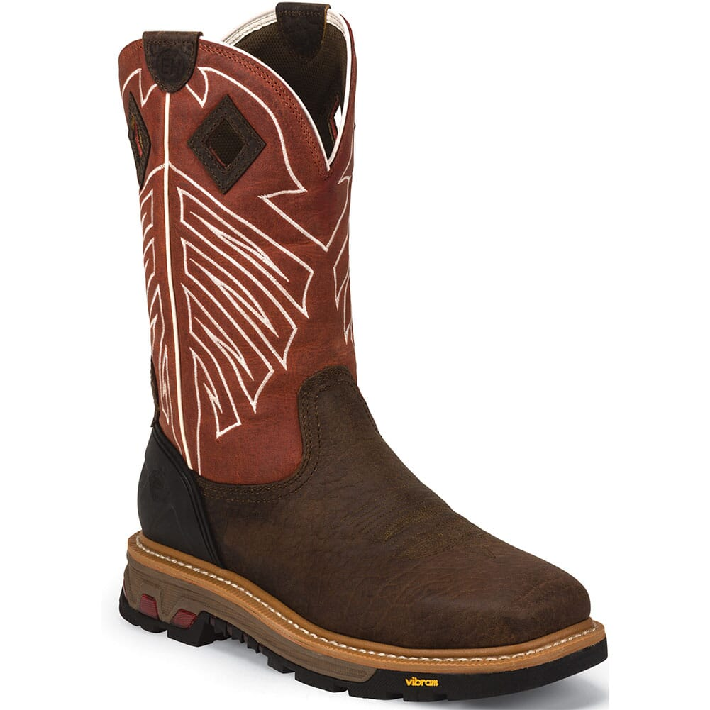 Image for Justin Original Men's Roughneck Safety Boots - Chestnut from bootbay